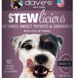Dave's Pet Food Dave's Stewlicious Chunky Turkey, Sweet Potato Canned Dog Food 13oz
