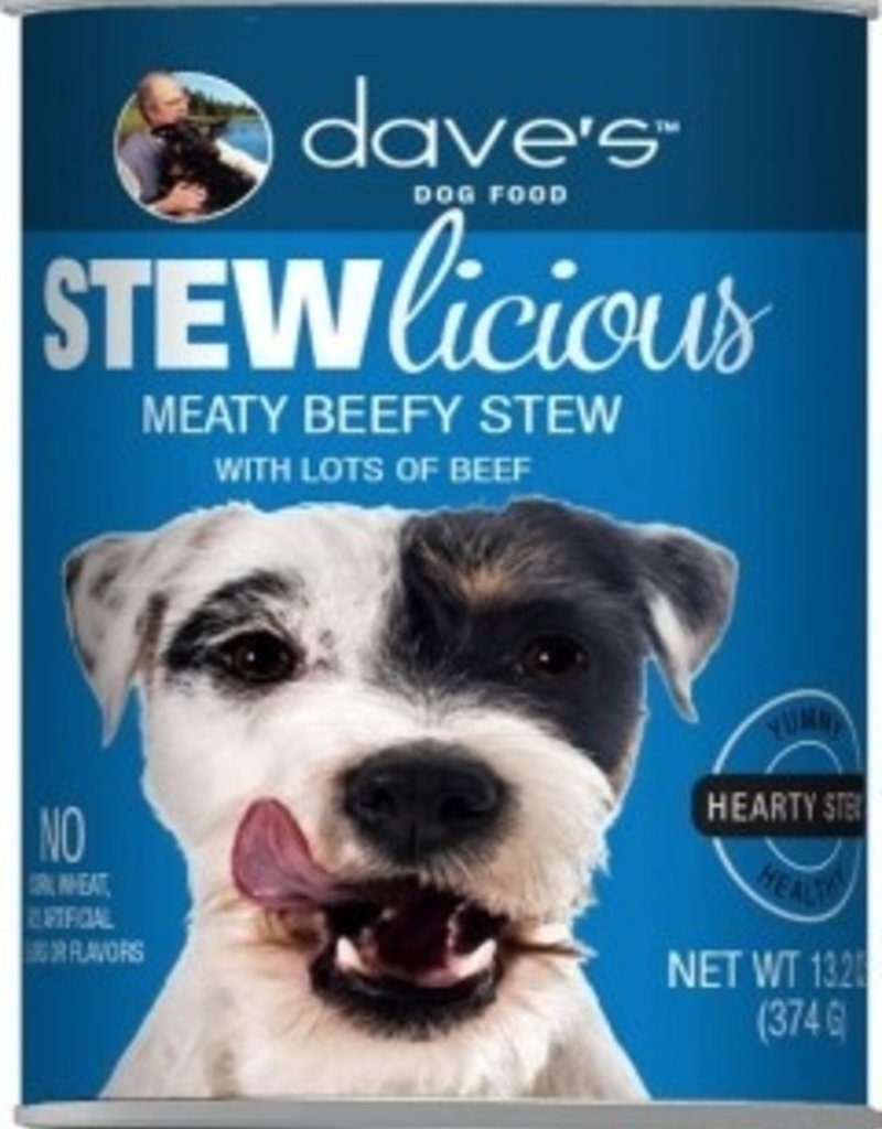 Dave's Pet Food Dave's Stewlicious Meaty Beefy Stew Canned Dog Food 13oz