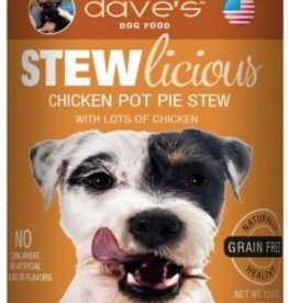 Dave's Pet Food Dave's Stewlicious Chicken Pot Pie Stew Canned Dog Food 13oz