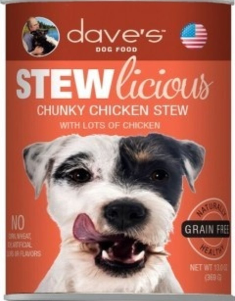 Dave's Pet Food Dave's Stewlicious Chunky Chicken Stew Canned Dog Food 13oz