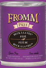Fromm Family Fromm Duck à La Veg Pâté Can Canned Dog Food  12.2oz