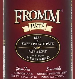 Fromm Family Fromm Beef and Sweet Potato Pâté Canned Dog Food 12.2oz