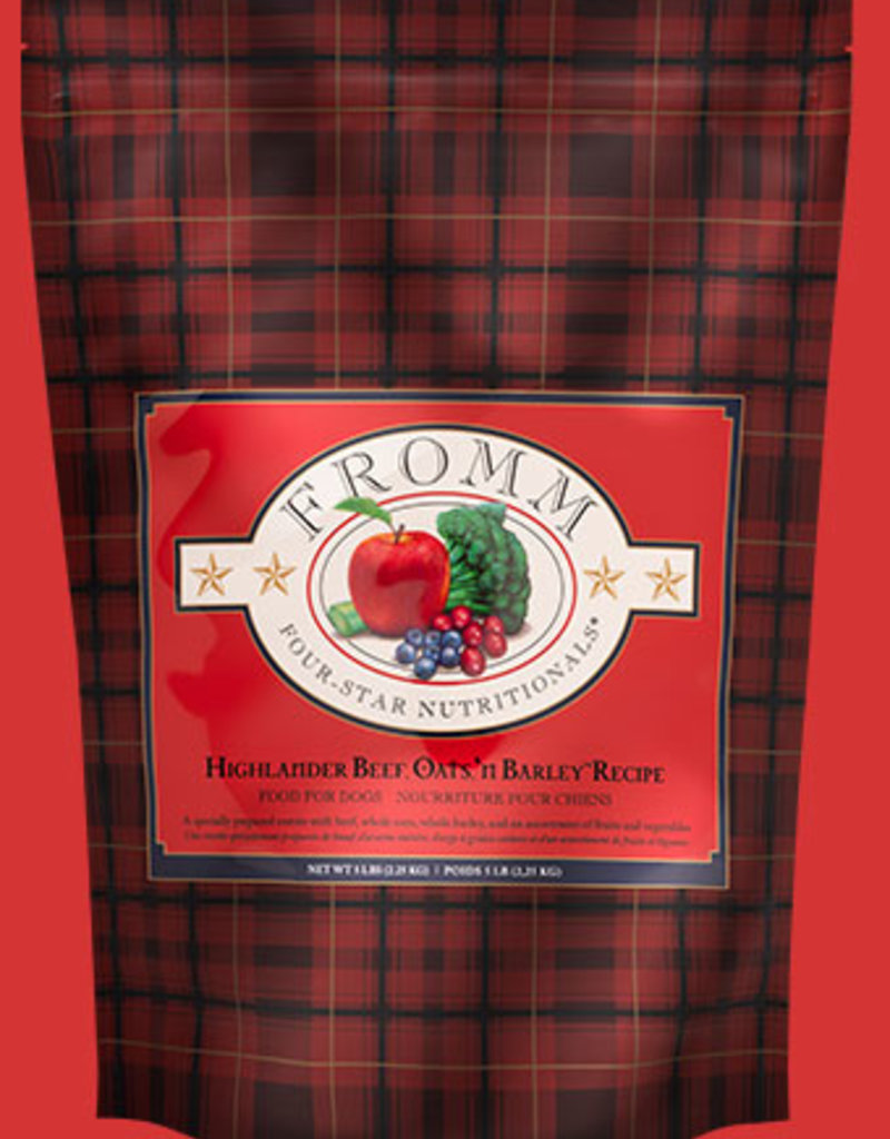 Fromm Family Fromm Highlander Beef, Oats'n Barley Dog Food 5lb