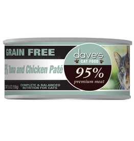 Dave's Pet Food Dave's 95% Tuna and Chicken Pâté Canned Cat Food 5.5oz