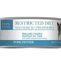 Dave's Pet Food Dave's Restricted Diet Magnesium & Phosphorus Pork Canned Cat Food 5.5oz