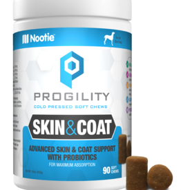 Nootie Nootie Progility Skin & Coat Soft Chew Dog 90ct