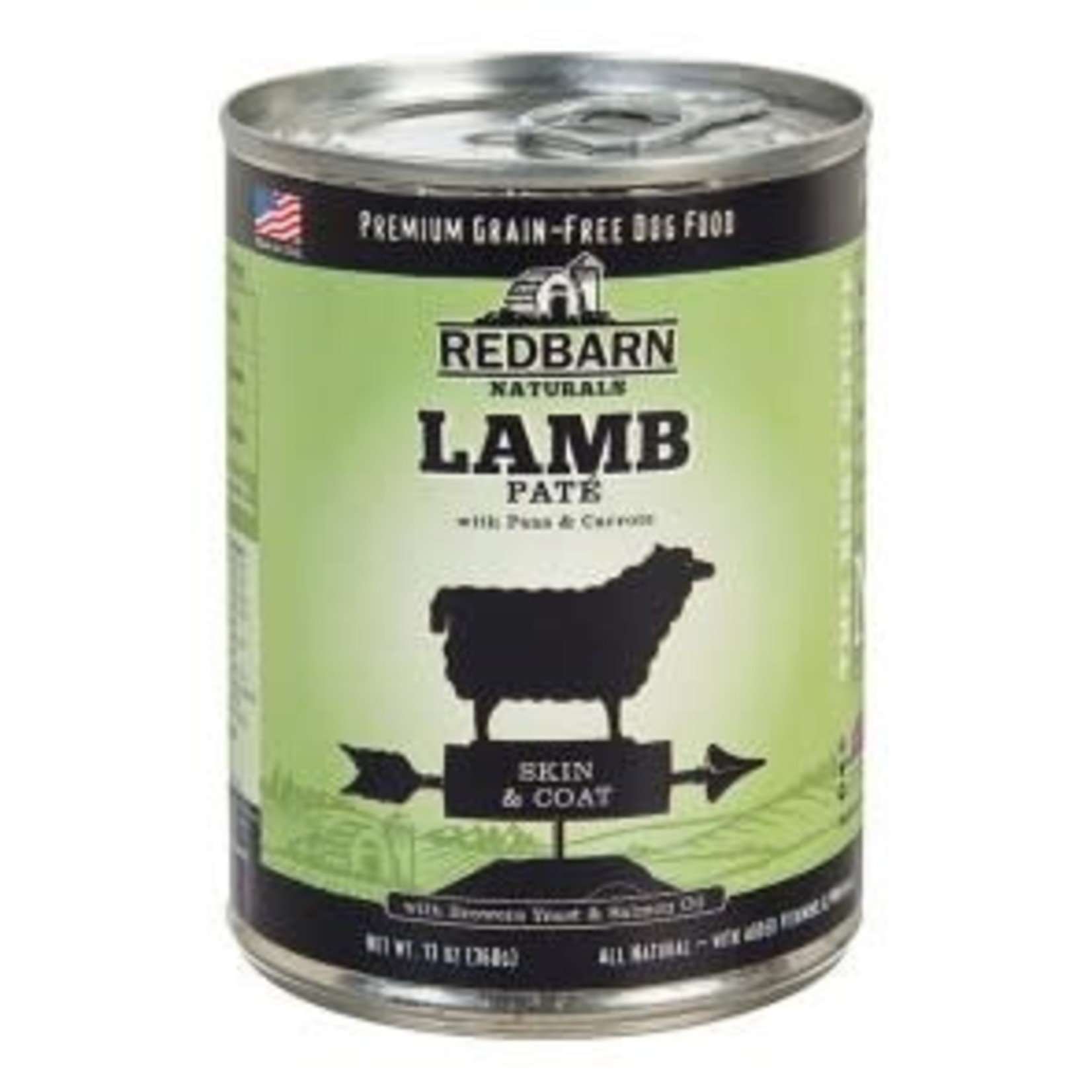 Red Barn REDBARN Lamb Pate Skin & Coat Can Dog 13oz