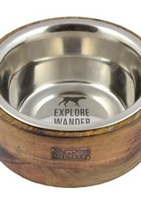 Tall Tails TALL TAILS Stainless Steel & Wood Designer Bowl