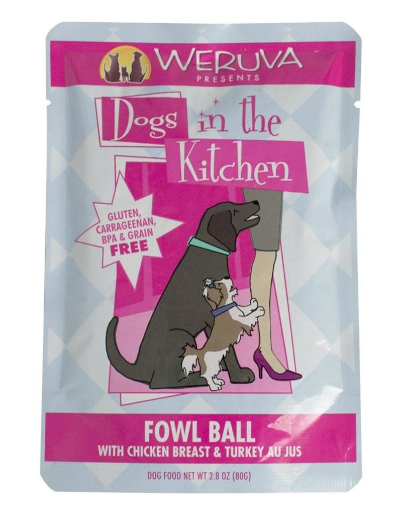 Weruva Weruva Fowl Ball Dog Food 2.8oz Pouch