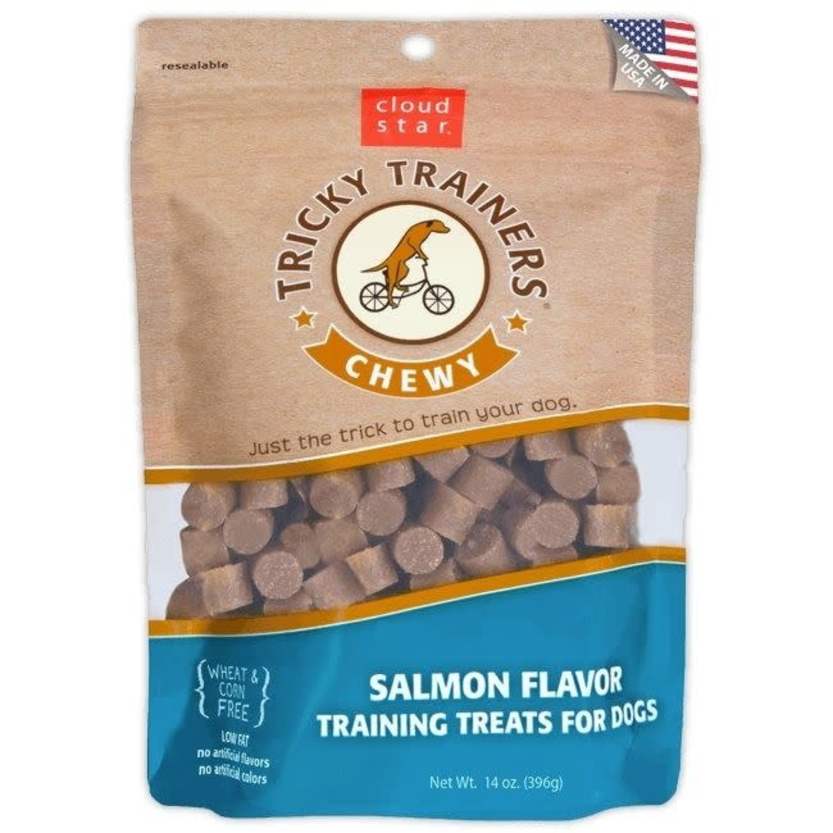 Cloud Star Tricky Trainers Salmon Chewy Dog Treats 5oz