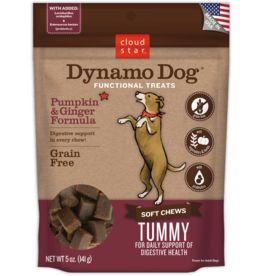 Cloud Star Dynamo  Dog Tummy: Pumpkin and Ginger Chewy Dog Treats 5oz