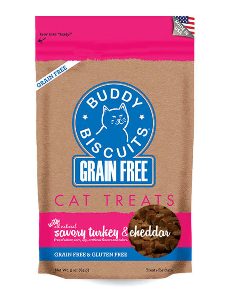 Cloud Star Buddy Biscuits Turkey and Cheddar Cat Treats 3oz