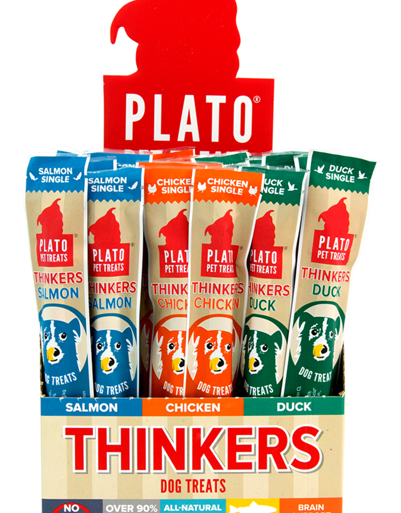 Plato Pet Treats PLATO Thinkers Jerky Roll Chicken Single Dog Treats