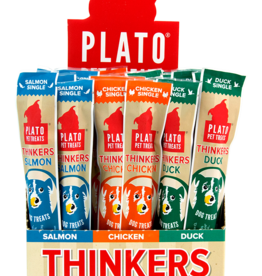 Plato Pet Treats PLATO Thinkers Jerky Roll Salmon Single Dog Treats