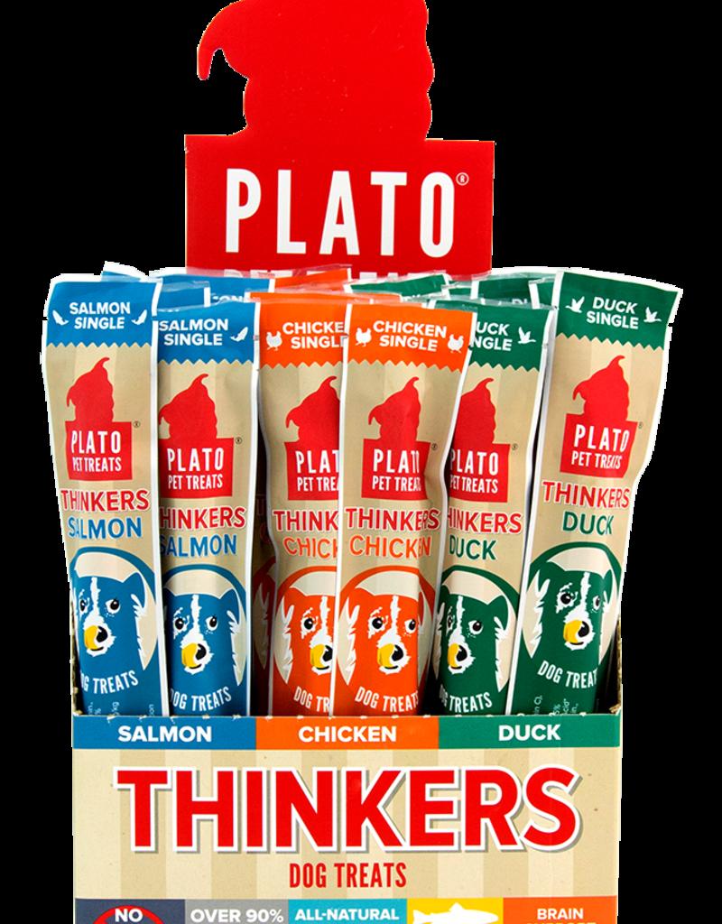 Plato Pet Treats PLATO Thinkers Jerky Roll Salmon Single Dog Treats