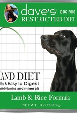 Dave's Pet Food Dave's Restricted Diet Bland Lamb and Rice Canned Dog Food 13oz