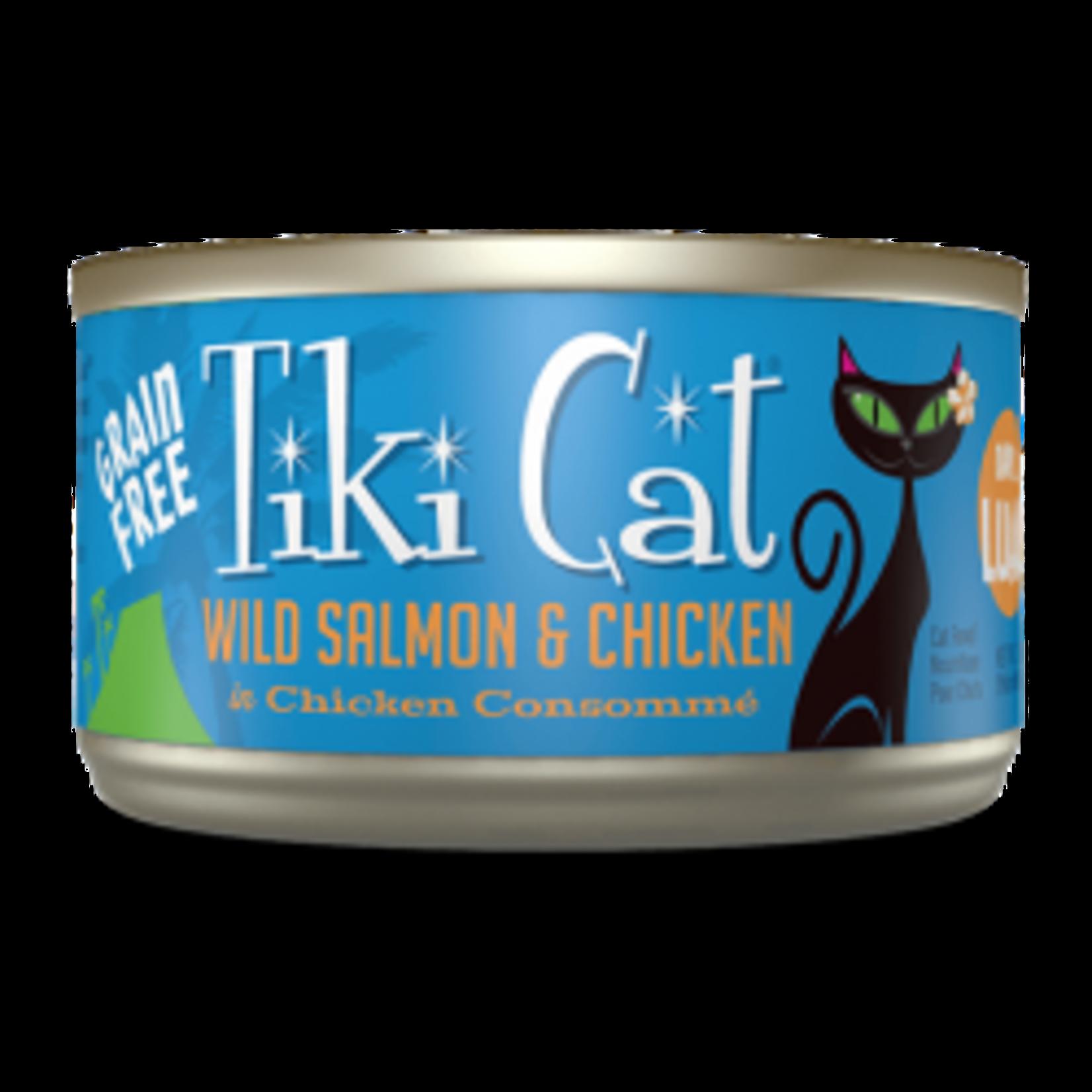 Tiki Cat & Tiki Dog Tiki Cat Luau Napili Wild Salmon & Chicken Canned Cat Food 2.8oz
