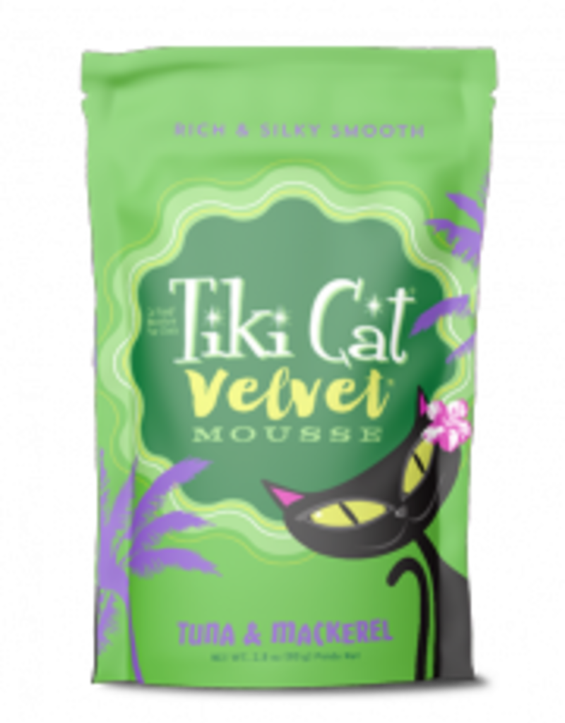 Tiki Cat & Tiki Dog Tiki Cat Velvet Mousse Tuna & Mackerel Cat Food Pouch 2.8oz