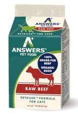 Answers Answers Detailed Raw Beef Cat Food 1lb