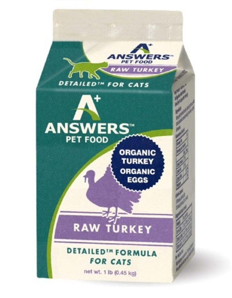 Answers Answers Detailed Raw Turkey Cat Food 1lb