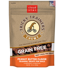 Cloud Star Tricky Trainers Peanut Butter Chewy Dog Treats