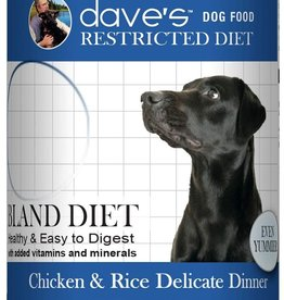 Dave's Pet Food Dave's Restricted Diet Bland Chicken and Rice Canned Dog Food 13.2oz