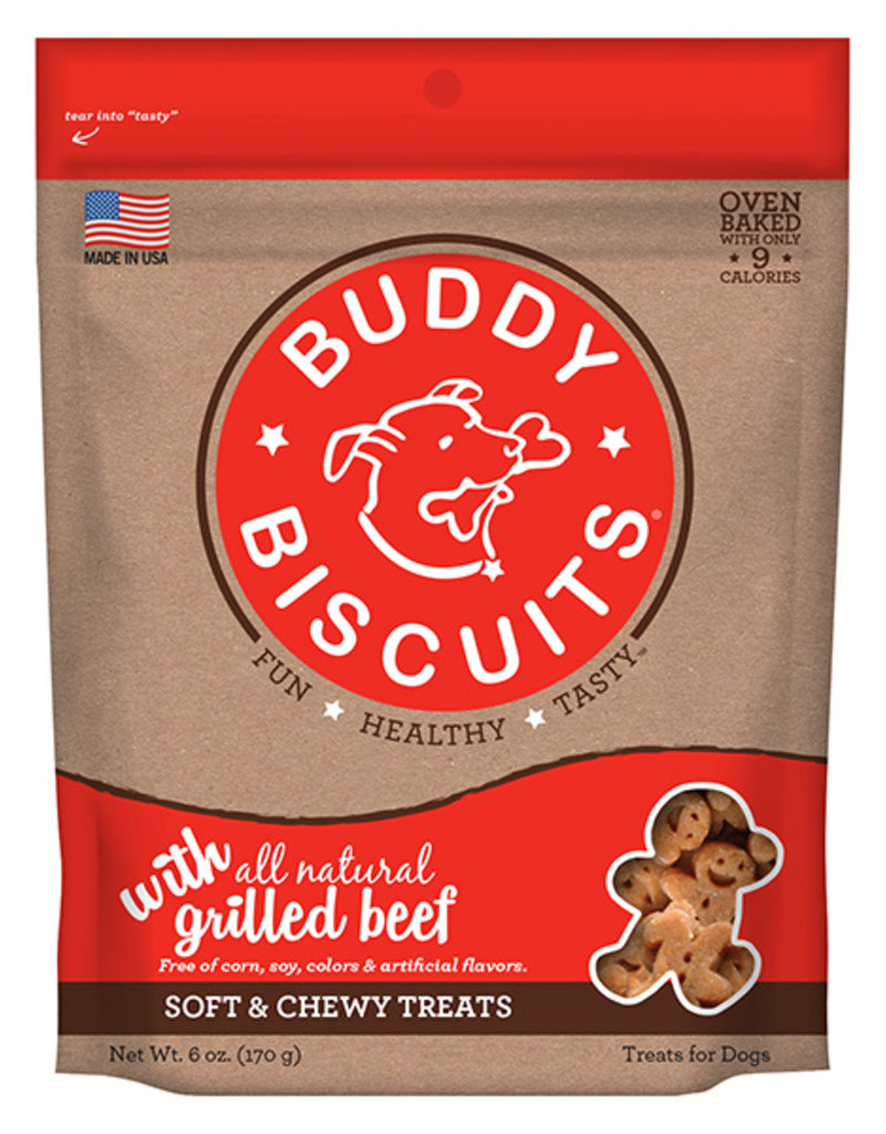 Cloud Star Buddy Biscuits Soft & Chewy Grilled Beef Dog Treats 6oz