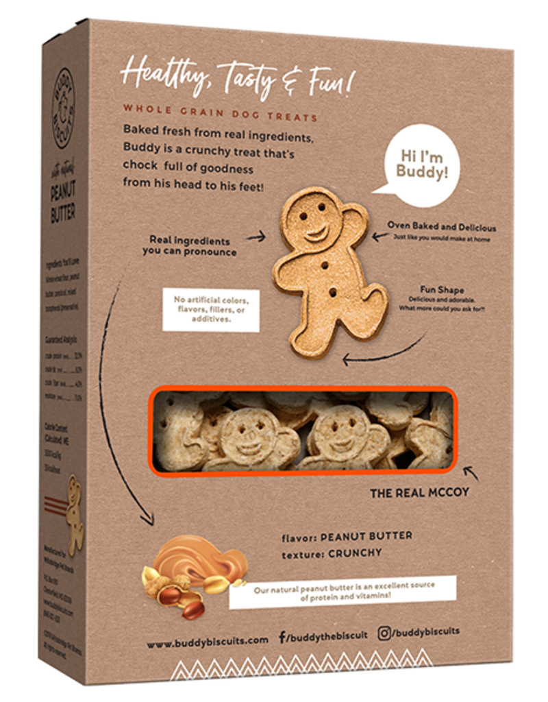 Cloud Star Buddy Biscuits Oven Baked Peanut Butter Dog Treats 16oz