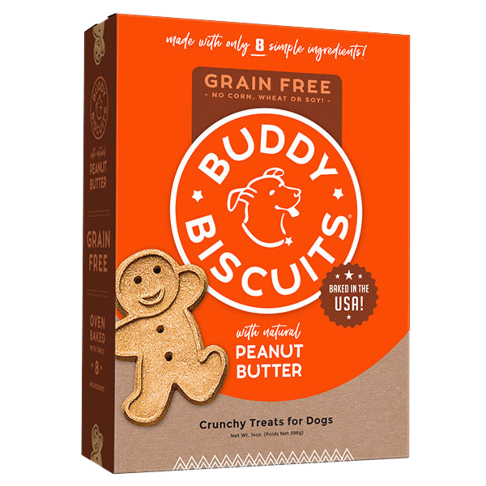 Cloud Star Buddy Biscuits Grain Free Oven Baked Peanut Butter Dog Treats 14oz