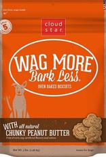 Cloud Star Wag More Bark Less Peanut Butter Biscuit Dog Treats 3lb