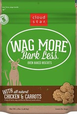 Cloud Star Wag More Bark Less Chicken & Carrot Dog Biscuit Treats 3lb