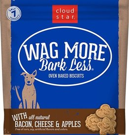 Cloud Star Wag More Bark Less Bacon, Cheese,  & Apple Dog Treats 3lbs