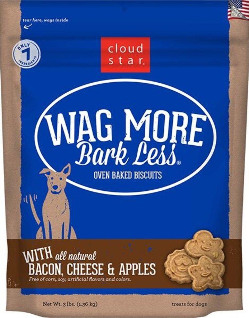 Cloud Star Wag More Bark Less Bacon, Cheese, & Apple Dog Treats 3lbs