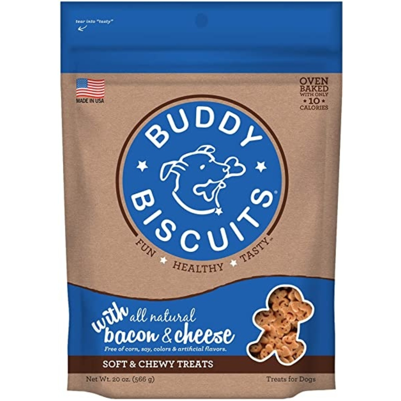 Cloud Star Buddy Biscuits Soft & Chewy Bacon & Cheese Dog Treats 6oz