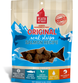 Plato Pet Treats PLATO Real Strips Salmon Dog Treats 18oz