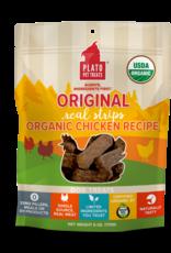 Plato Pet Treats PLATO Real Strips Organic Chicken Dog Treats 18oz