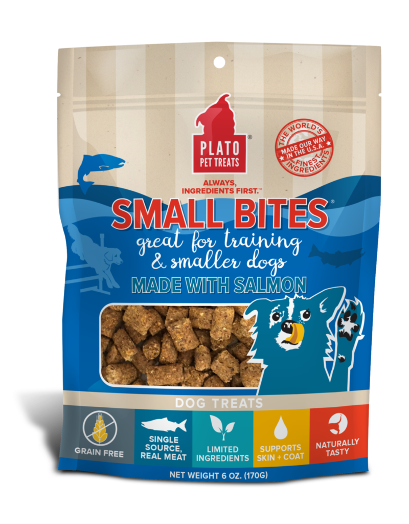 Plato Pet Treats PLATO Small Bites Salmon Dog Treats 6oz