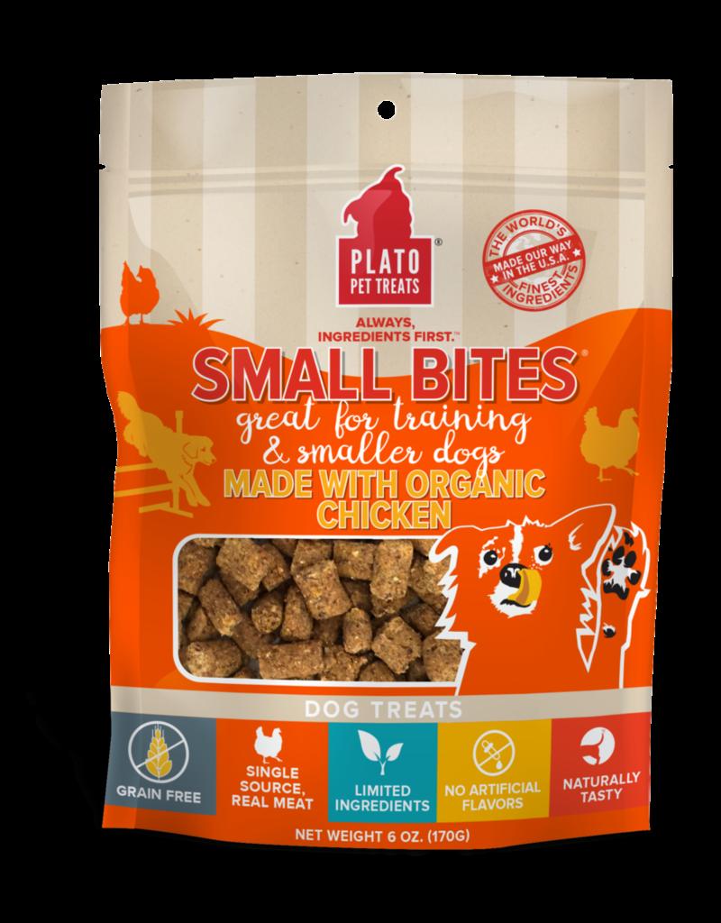 Plato Pet Treats PLATO Small Bites Organic Chicken Dog Treats 6oz