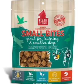Plato Pet Treats PLATO Small Bites Duck Dog Treats 6oz