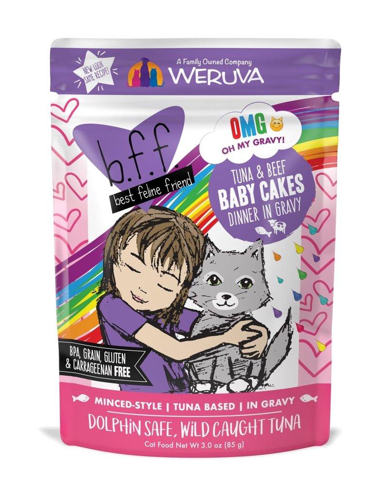 Weruva Weruva BFF OMG Tuna & Beef Baby Cakes Cat Pouch 3oz