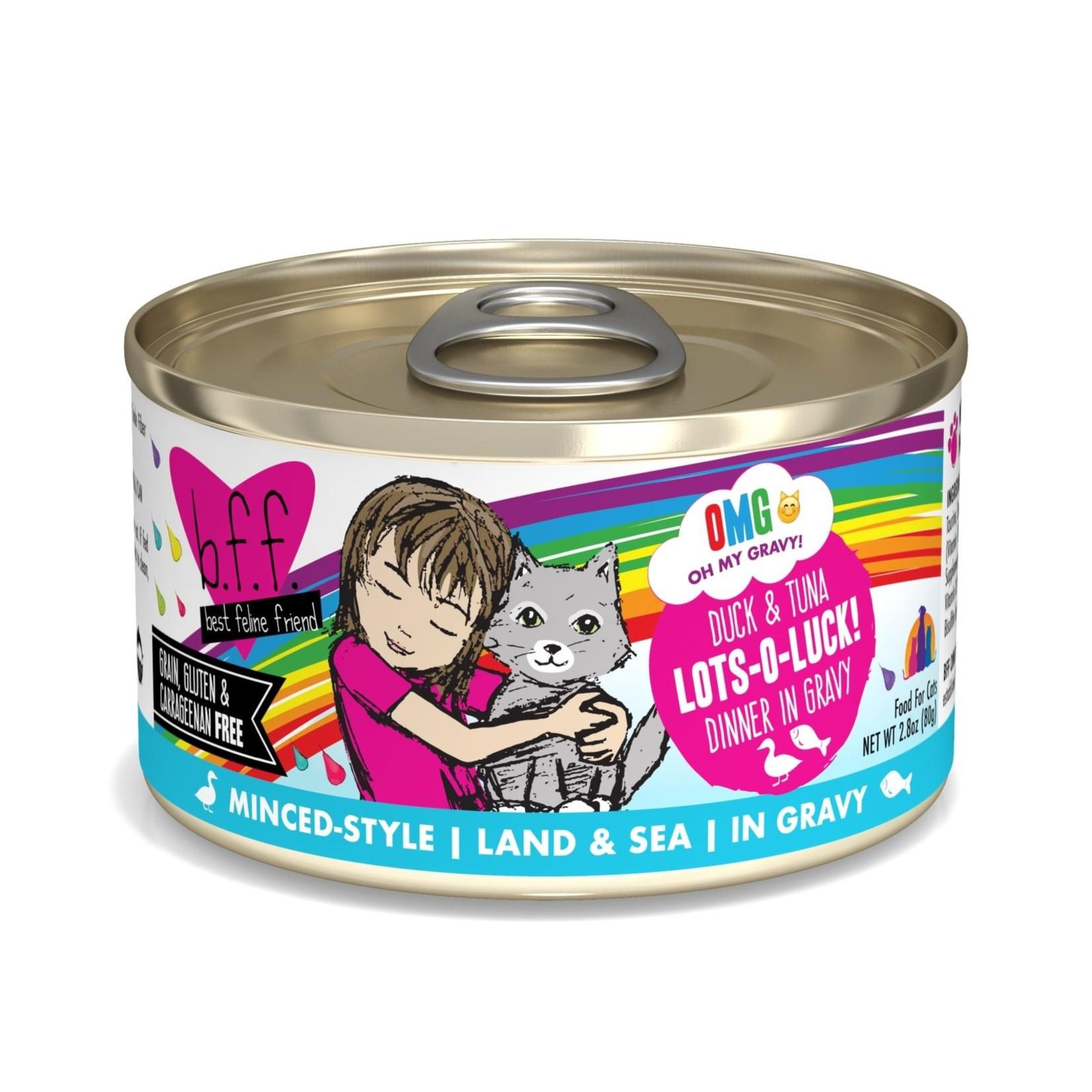 Weruva Weruva BFF OMG Duck & Tuna Lots-O-Luck! Cat Can 2.8oz