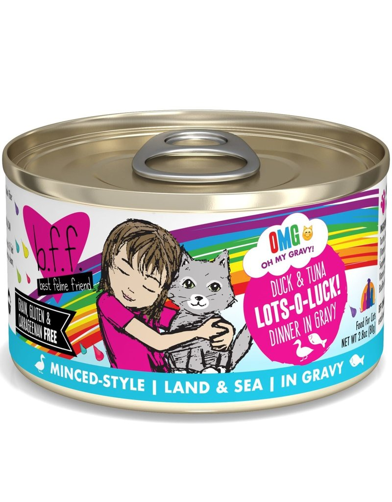 Weruva Weruva BFF OMG Duck & Tuna Lots-O-Luck! Cat Can 2.8oz