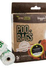 Define Planet Define Planet Poo Bags Compostable Veggie Rolls 8ct