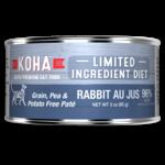 Koha KOHA Limited Ingredient Diet Rabbit Au Jus Canned Cat Food 3oz