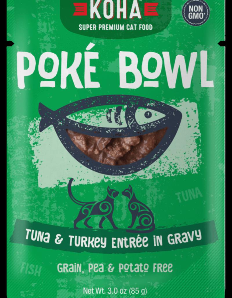 Koha KOHA Poke Bowl Tuna & Turkey in Gravy Cat Food Pouch 2.8oz