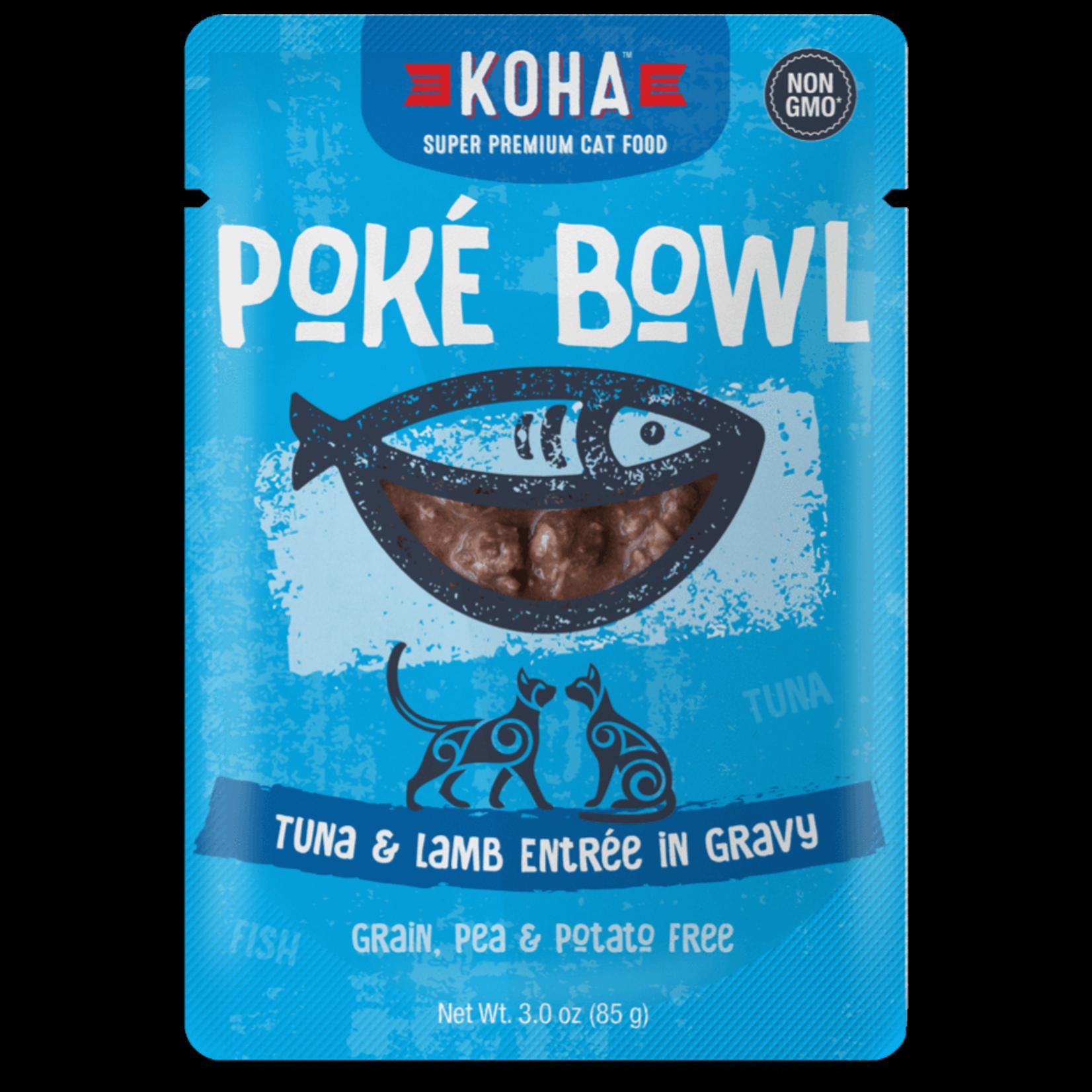 Koha KOHA Poke Bowl Tuna & Lamb In Gravy Cat Food Pouch 2.8oz - FINAL SALE No Exchanges/Returns