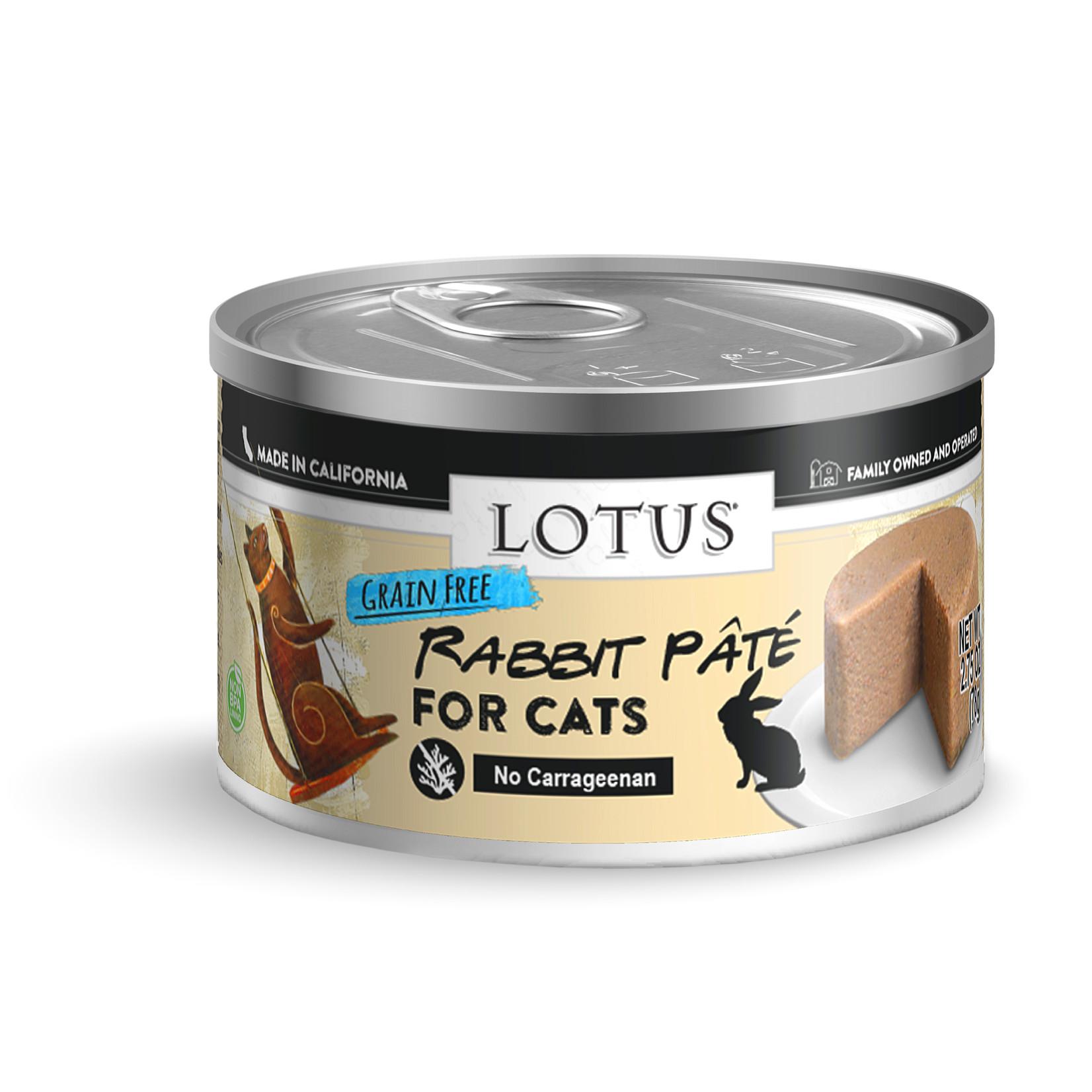 Lotus Lotus Rabbit Pate Canned Cat Food