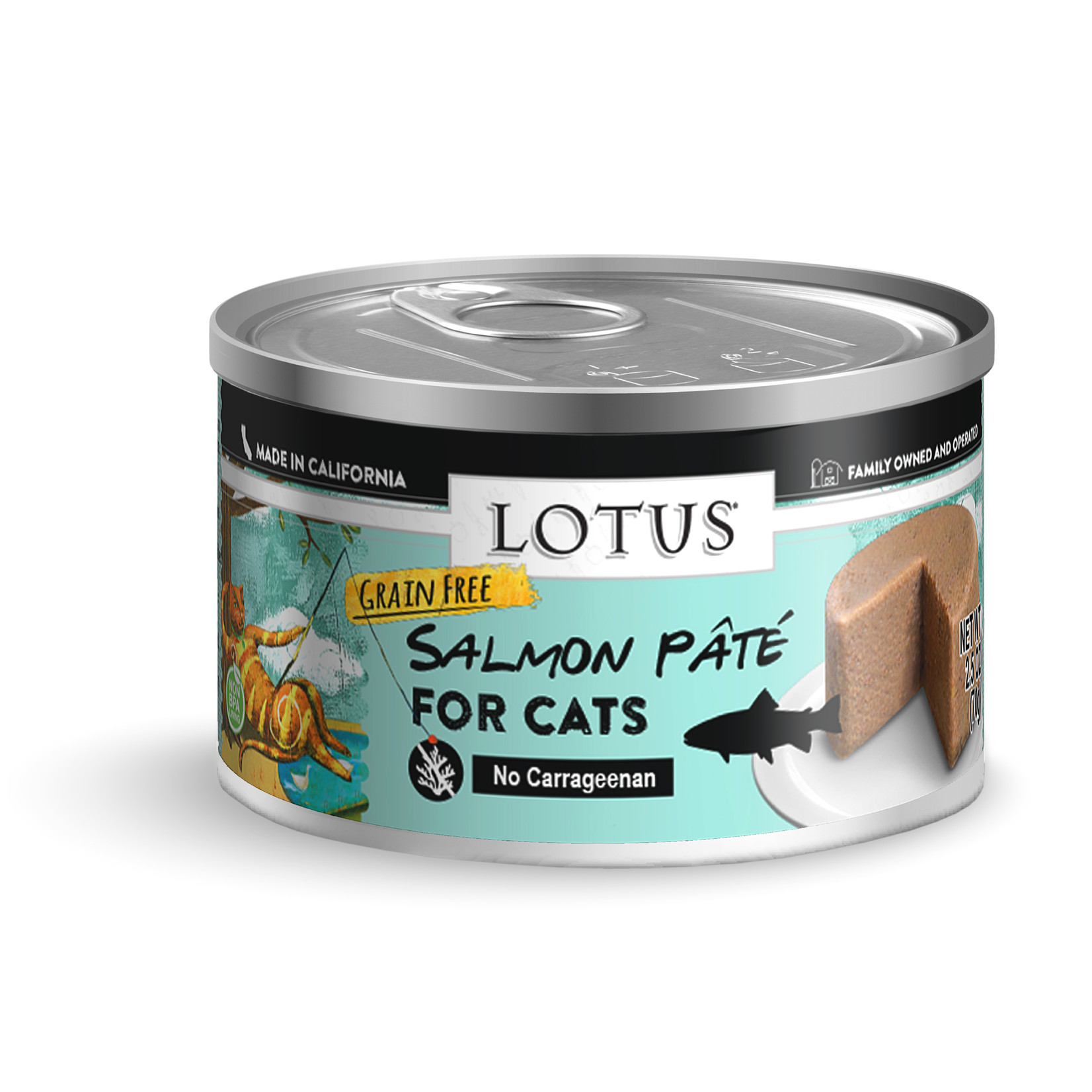 Lotus Lotus Salmon Pate Cat Canned Food 2.75oz