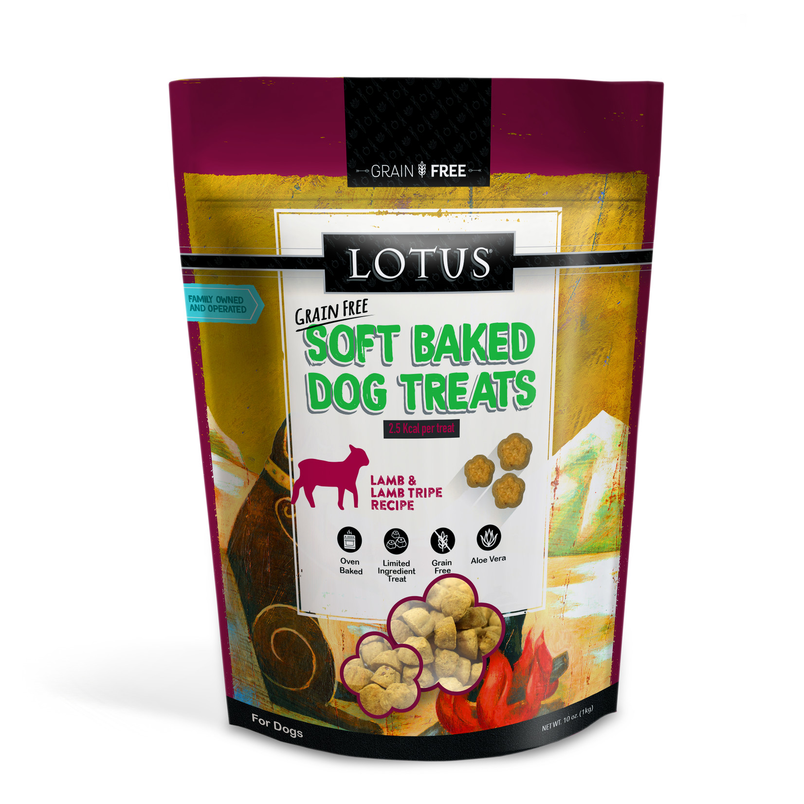 Lotus Lotus Baked Lamb & Lamb Tripe Dog Treats 10oz