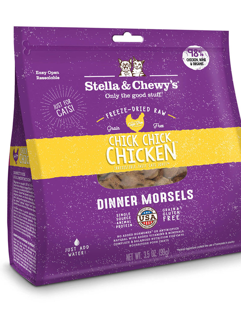 Stella & Chewys Stella & Chewy's Freeze Dried Chick, Chick Chicken Morsels Cat Food 9oz